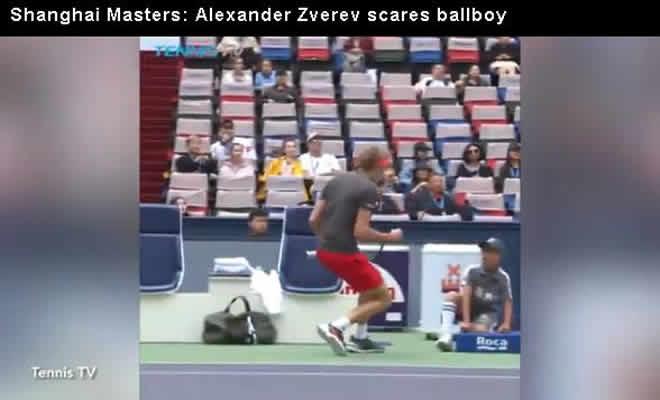 alexander zverev scares ballboy