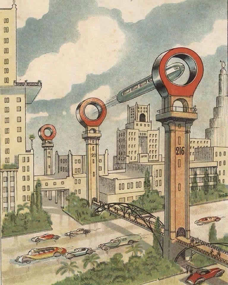 Soviet Russia vision of the future from the 1930s