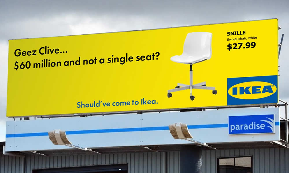 Clive Palmer should've come to Ikea
